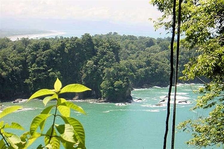 منظره ساحل کوئپوس در کاستاریکا.