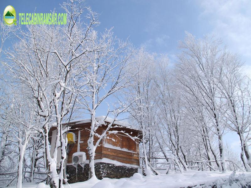 محوطه-کلبه-ها-زمستان