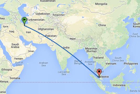 بلیط هواپیما تهران کوالالامپور مالزی