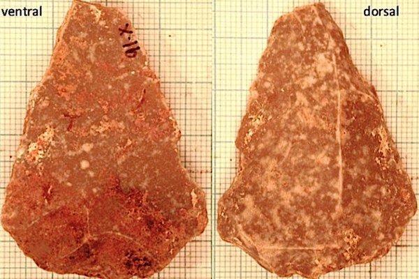 ابزار سنگی کشف شده در اردن