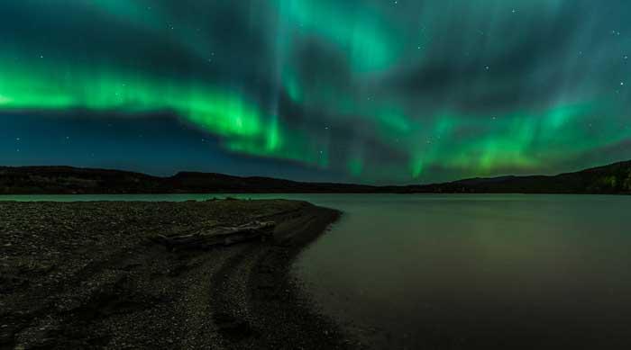 عکس شفق قطبی در نروژ
