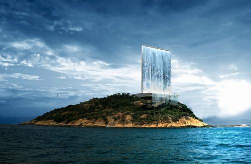 آبشار معلق Solar City Tower