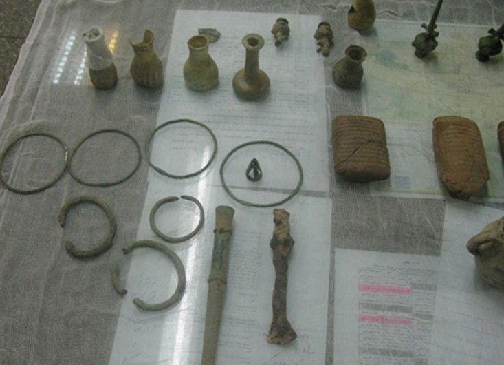 آثار تاریخی مکشوفه در مترو تهران
