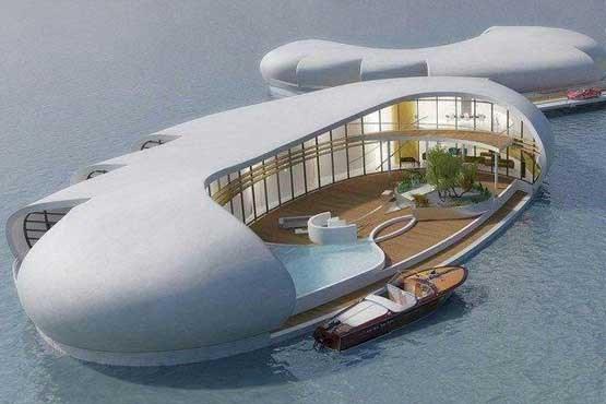 تصویر ساخت منازل مسکونی شناور در خلیج فارس