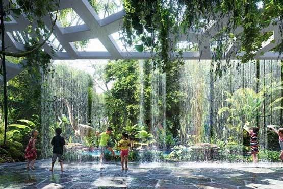 تصویر هتل جدید دبی با جنگل استوایی +عکس